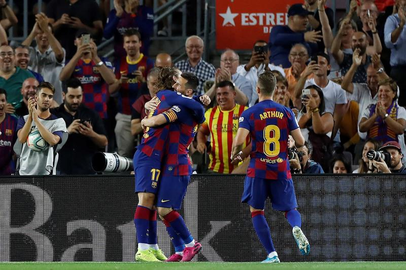 Messi y Griezmann
