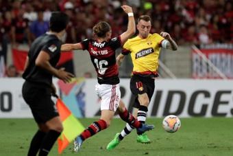 Prováveis escalações de Flamengo e Barcelona-EQU. AFP