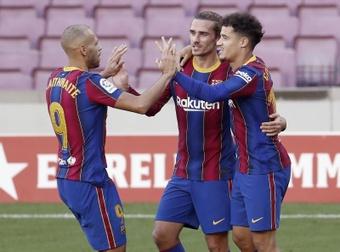 Koeman vê com segurança a continuidade de Coutinho. EFE/ Andreu Dalmau