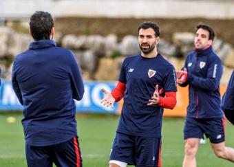 A situação do jogador do Athletic Bilbao.  EFE/JAVIER ZORRILLA