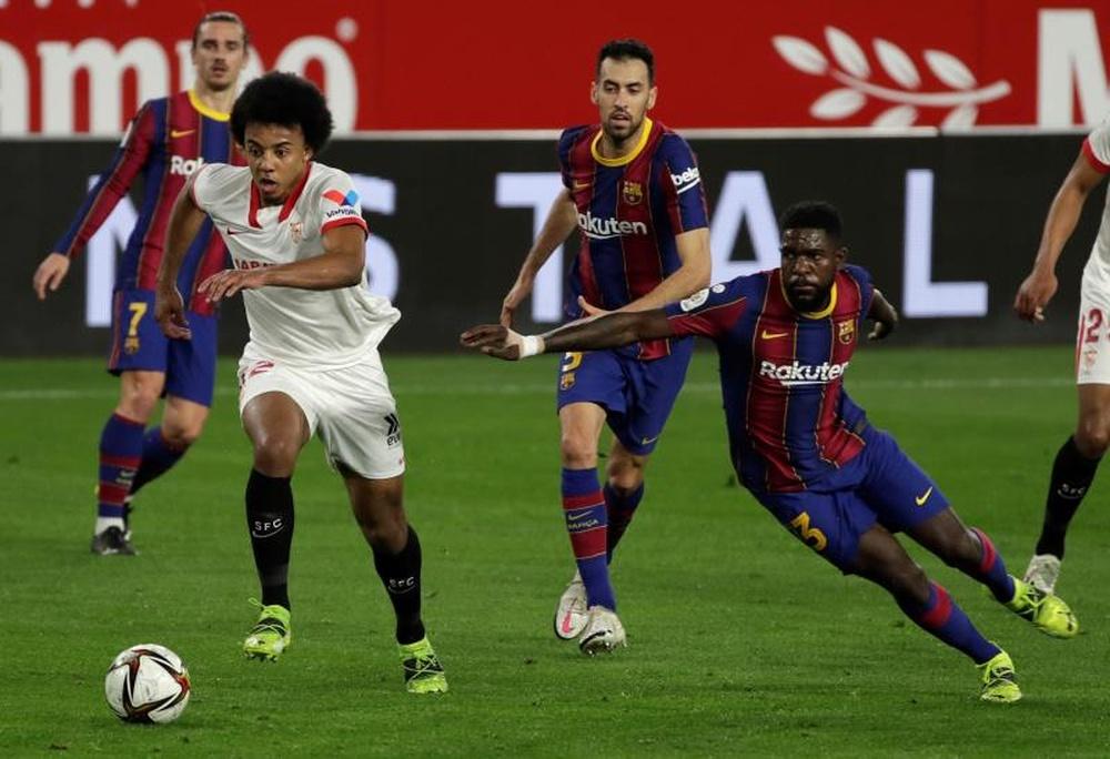 Le match Séville-Barcelone reporté. EFE