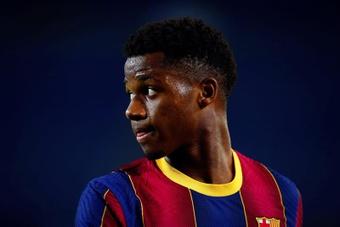 Tanto o Barça quando Ansu Fati querem ampliar seu contrato. EFE/ Enric Fontcuberta