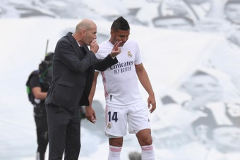 Casemiro est devenu le leader du milieu de terrain lors de Levante-Real Madrid. EFE