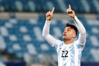 Le Real Madrid a offert 40 millions d'euros pour Lautaro Martinez. EFE