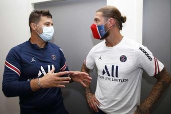 Sergio Ramos e uma estreia indefinida no PSG. EFE/ Paris Saint-Germain