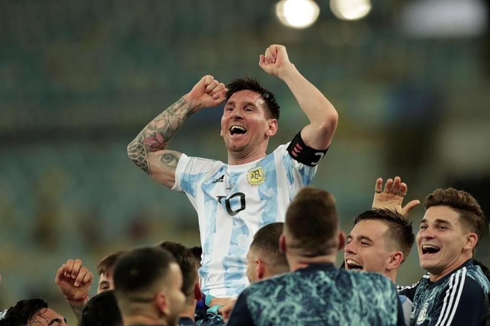 Messi utilizará a sua cláusula ProArgentina esta semana.EFE