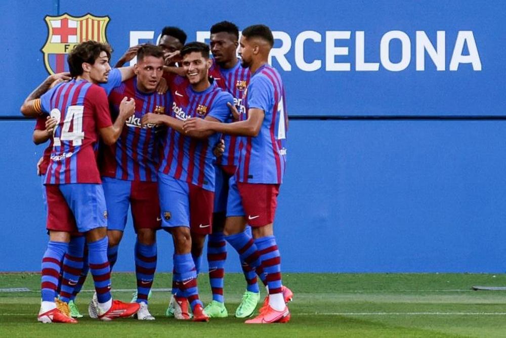 Rey Manaj was very good in pre-season for Barcelona. EFE