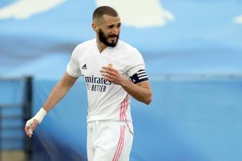 Karim Benzema marcó un 'hat trick' ante el Celta de Vigo. EFE