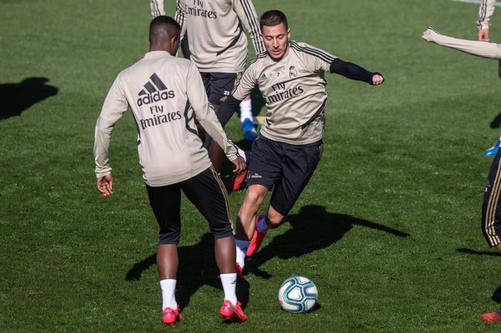Hazard parla del suo percorso al Real Madrid. EFE