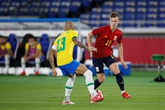 O Barça se mostrou interessado em Dani Olmo. EFE/ Alberto Estévez