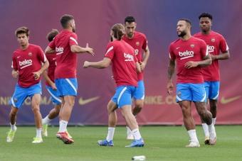 Le groupe du Barça face à Getafe. efe