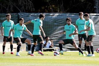 Fernando Santos veut trouver un équilibre sans Cristiano Ronaldo. afp