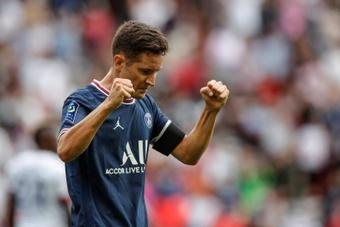Ander Herrera marcó el 1-0 y el 2-0. EFE/Yoan Valat