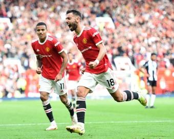Bruno Fernandes a marqué un magnifique but lors de la victoire contre Newcastle (4-1). EFE
