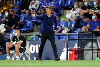 Michel valoró la derrota ante el Atlético de Madrid. EFE