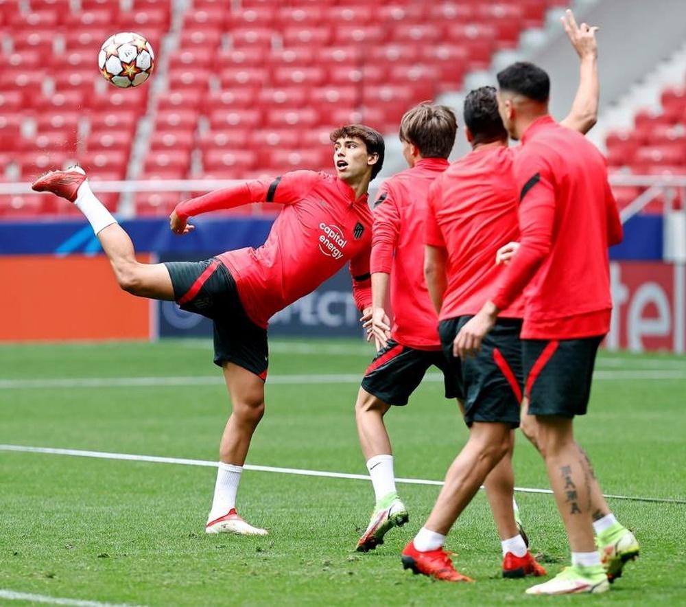Le groupe de l'Atletico de Madrid pour affronter le FC Porto. efe