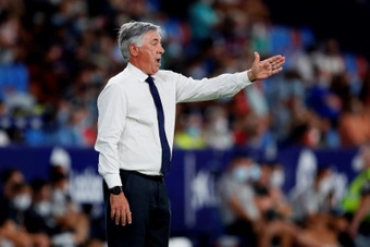 Se tem Ancelotti, tem gol pra sua equipe. EFE/Biel Aliño