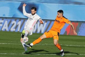 Valência - Real Madrid: escalações confirmadas. AFP