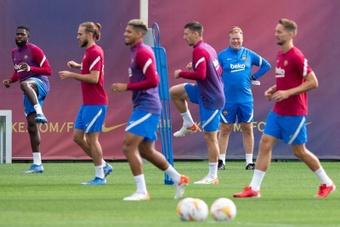 Le groupe du Barça pour affronter Cadix. EFE