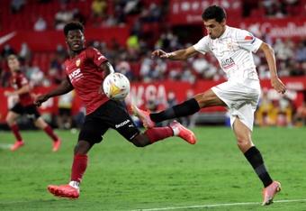 El Sevilla solo ha encajado dos goles en seis partidos. EFE