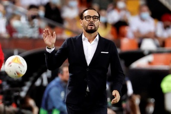 Bordalás y Marcos André destacaron la actitud del equipo ante la adversidad. EFE