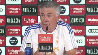 Ancelotti falou da possível estreia de Camavinga. Captura/RealMadridTV