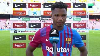 Ansu Fati s'est exprimé au micro de Movistar après son grand retour avec le Barça. Capture/Movistar