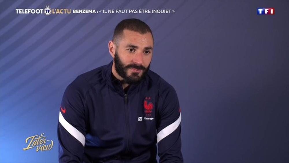 Benzema spoke again about Mbappe. Screenshot/TF1