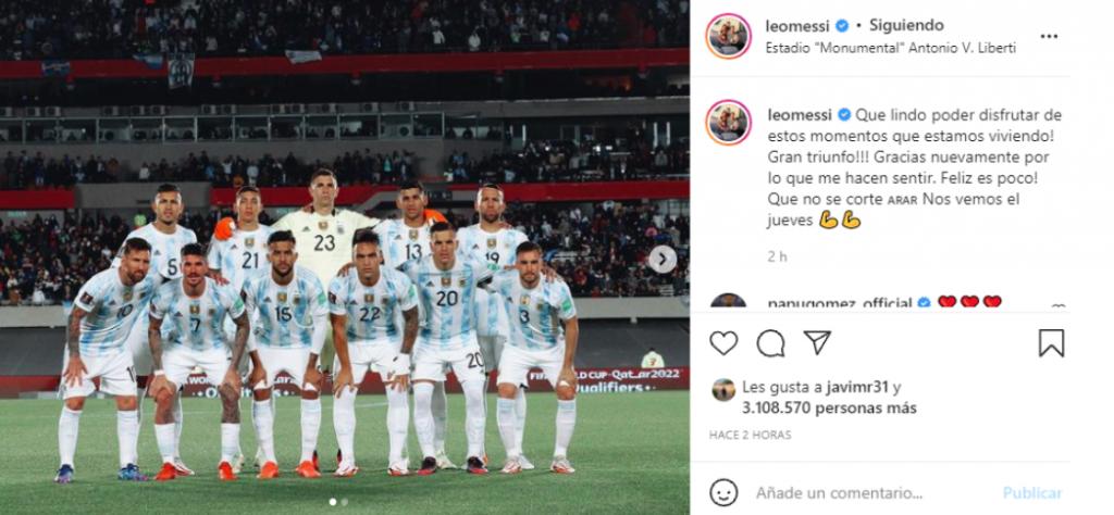 """La felicidad de Messi en Argentina: """"Que no se corte"""""""