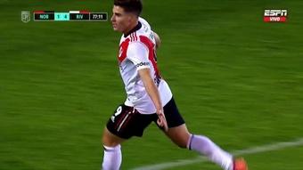 Partidazo de Julián Álvarez. Captura/ESPN