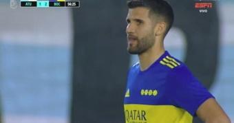 Boca Juniors venció 1-2 a Atlético Tucumán. Captura/ESPN