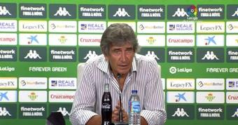 Pellegrini, contento con el juego de su equipo. YouTube/LaLiga