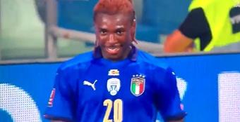 Moise Kean fue el protagonista. Captura/UEFATV