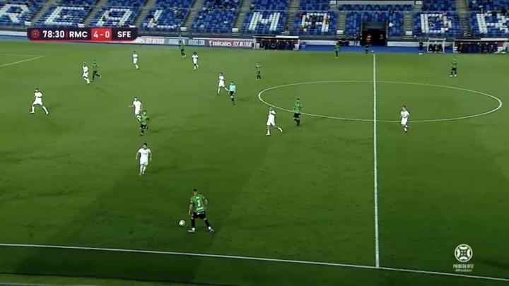 El Real Madrid Castilla venció por 4-0 al San Fernando. Captura/Footters