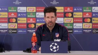 Diego Simeone s'est exprimé en conférence de presse avant le choc contre Porto. Capture/Atleti