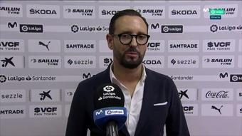 Bordalás aplaudió la actitud de su equipo pese a la derrota. Captura/Movistar+