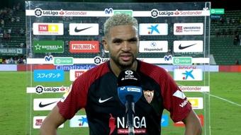 En-Nesyri advirtió que el Sevilla quiere pelear por la Liga. Captura/Movistar+