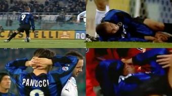 Una lesión que conmovió al fútbol. Captura/RAI