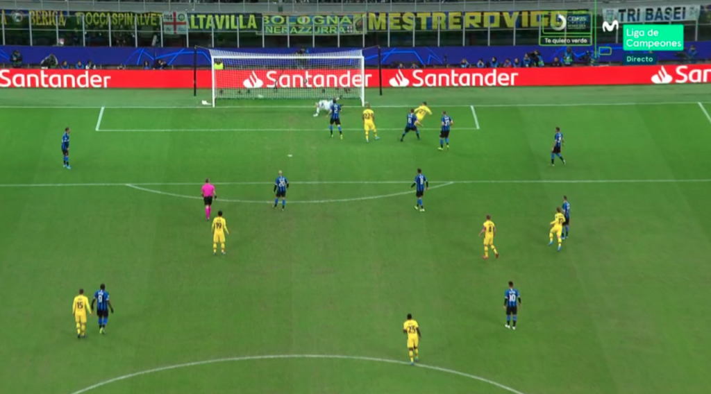 Gol de Carles Pérez al Inter de Milán