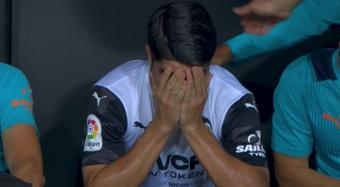 Soler rompió a llorar tras lesionarse. Captura/MovistarLaLiga