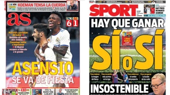 Portadas de la prensa deportiva del 23-09-21. AS/Sport