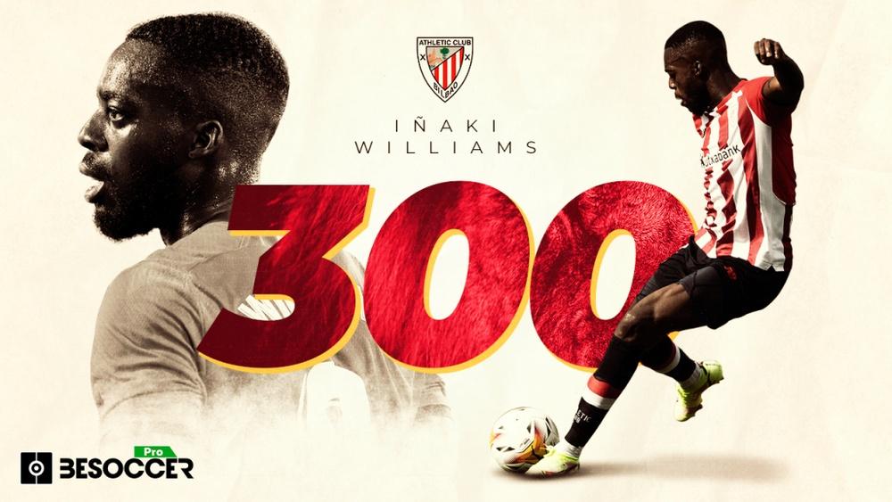 Iñaki Williams va disputer son 300e match avec Bilbao. BeSoccer Pro