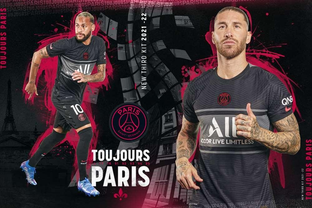 Le PSG présente son nouveau troisième maillot. PSG