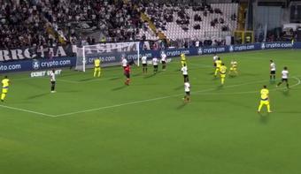 De Ligt puso el 2-3 para la Juventus. Captura/Vamos