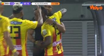 León marcó el gol de la victoria al poco tiempo de entrar al césped. Captura/WinSportsTV