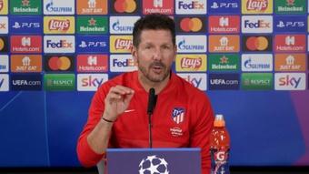 Diego Simeone était en conférence de presse. Capture/Atleti