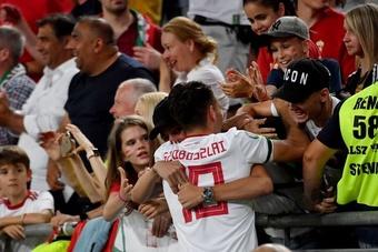 FIFA pune a Hungria pelos insultos racistas contra a Inglaterra. AFP