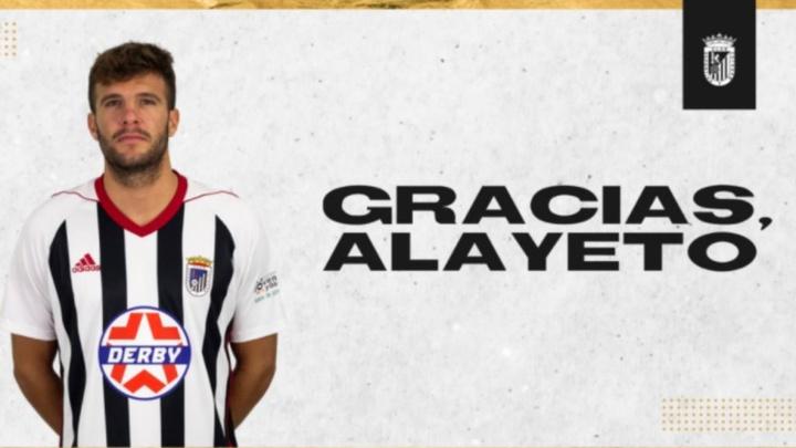 Alayeto no seguirá formando parte de la plantilla del CD Badajoz. Twitter/CDBadajoz