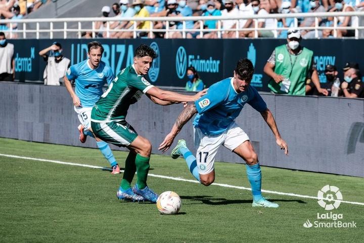 Sergio Castel anotó el gol del empate del Ibiza. LaLiga