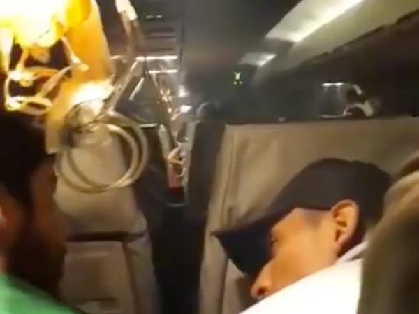 Plantel futbolístico pasó un muy mal momento en pleno vuelo